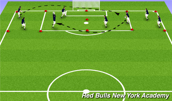 Football/Soccer Session Plan Drill (Colour): Meteors!