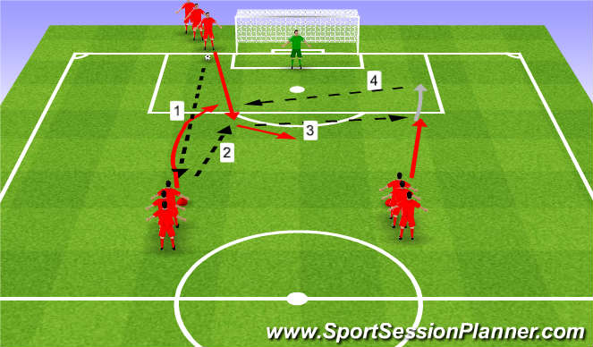 Football/Soccer Session Plan Drill (Colour): Check in Check out