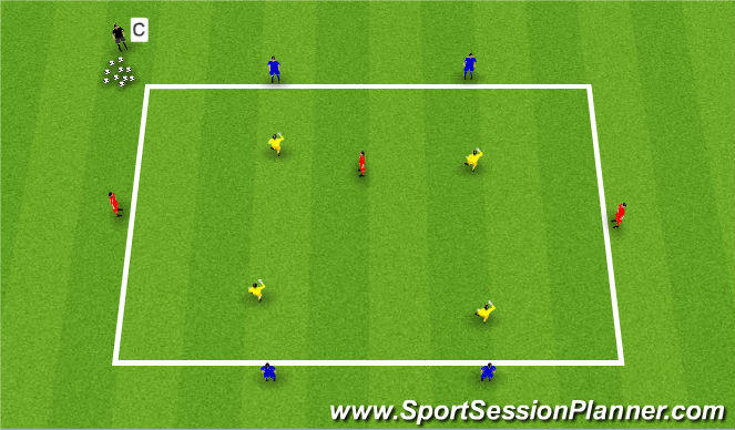 Football/Soccer Session Plan Drill (Colour): Key technical & tactical points