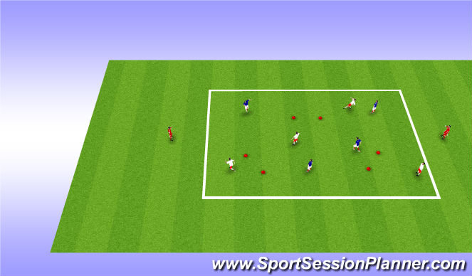 Football/Soccer Session Plan Drill (Colour): Gate Possssion