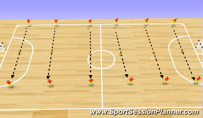 Futsal Session Plan Drill (Colour): Shooting and Finishing 1