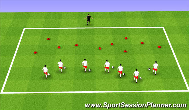 Football/Soccer Session Plan Drill (Colour): ODP Week 7 8:00-9:00