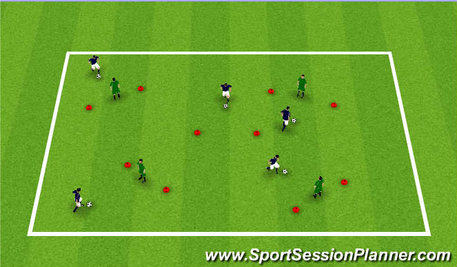 Football/Soccer Session Plan Drill (Colour): Star Wars