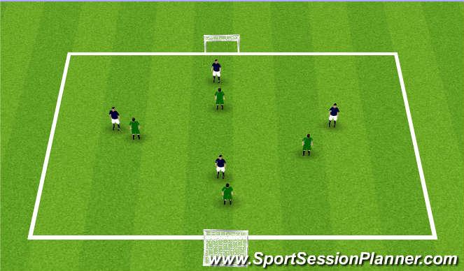 Football/Soccer Session Plan Drill (Colour): 4v4 Games