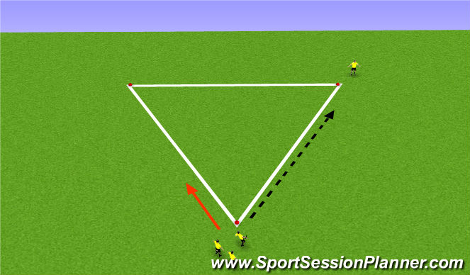 Football/Soccer Session Plan Drill (Colour): Pass and Rec. Prog. II
