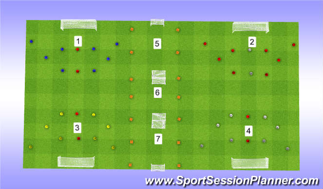 Football/Soccer Session Plan Drill (Colour): Session Cone Set up