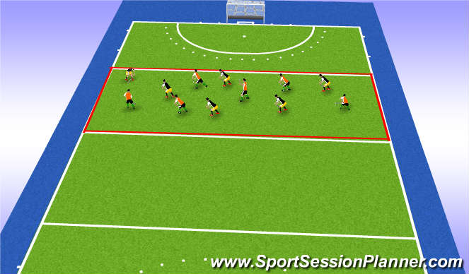 Hockey Session Plan Drill (Colour): Wedstrijd situatie