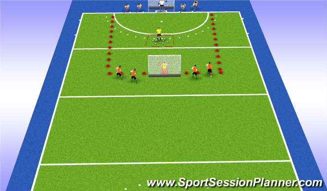 Hockey Session Plan Drill (Colour): Fives