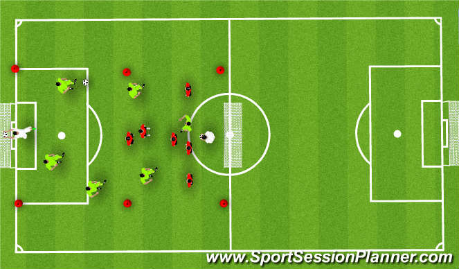 Football/Soccer Session Plan Drill (Colour): Group concepts on and off ball