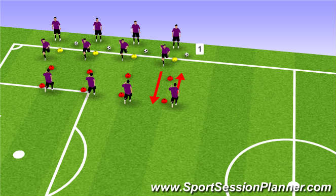 Football/Soccer Session Plan Drill (Colour): Pre-game Warmup