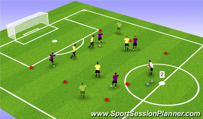 Football/Soccer Session Plan Drill (Colour): Pre-game Possession