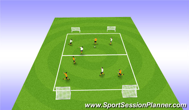 Football/Soccer Session Plan Drill (Colour): SSG w/ Wide Play