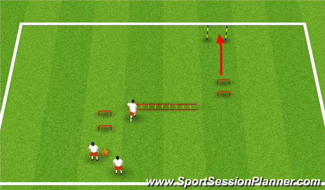 Football/Soccer Session Plan Drill (Colour): Physical