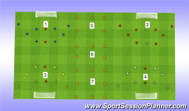 Football/Soccer Session Plan Drill (Colour): South Session 1