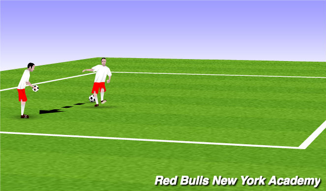 Football/Soccer Session Plan Drill (Colour): Juggle warmup