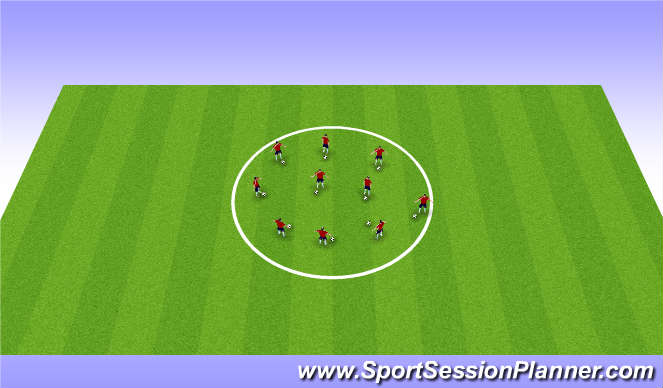 Football/Soccer Session Plan Drill (Colour): Screen 1Warm up