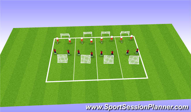 Football/Soccer Session Plan Drill (Colour): Screen 5 2v2 games