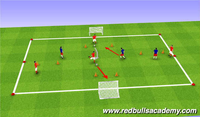 Football/Soccer Session Plan Drill (Colour): Conditon Game 3/ Tournament