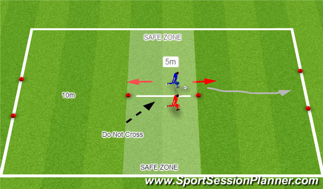 Football/Soccer Session Plan Drill (Colour): Break Out