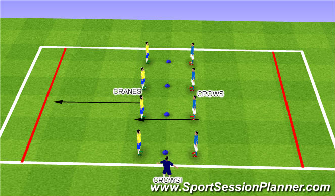 Football/Soccer Session Plan Drill (Colour): Reaction Time Game