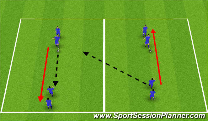 Football/Soccer Session Plan Drill (Colour): Warm Up Passing
