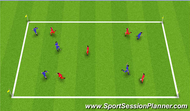 Football/Soccer Session Plan Drill (Colour): Throw Catch