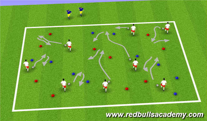 Football/Soccer Session Plan Drill (Colour): Warm Up III