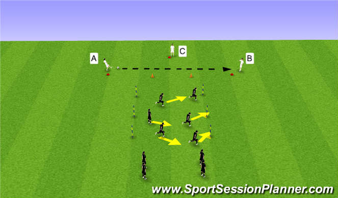 Football/Soccer Session Plan Drill (Colour): Warm Up: Functional Training: Pressing