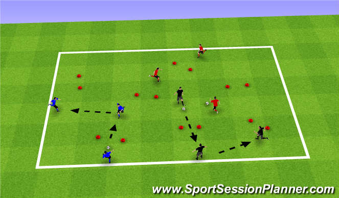 Football/Soccer Session Plan Drill (Colour): PASSING PLAY