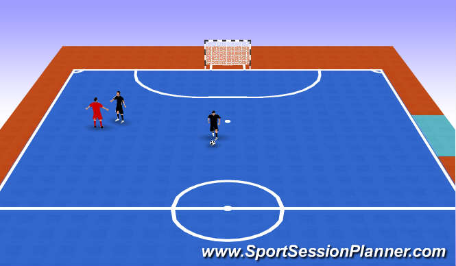 Futsal Session Plan Drill (Colour): running with ball