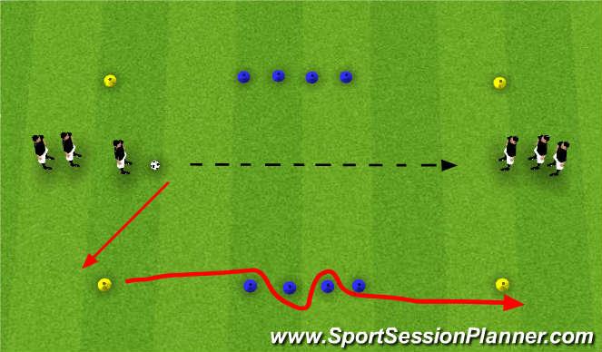 Football/Soccer Session Plan Drill (Colour): Pass & Follow Agility