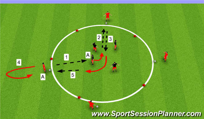 Football/Soccer Session Plan Drill (Colour): Checking Away