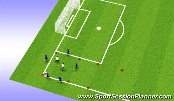 Football/Soccer Session Plan Drill (Colour): small sided 5v2