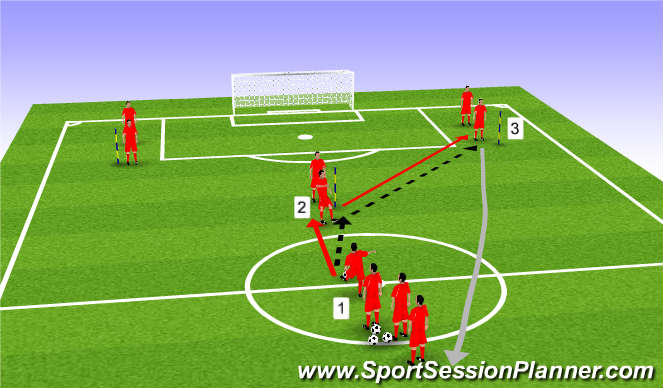 Football/Soccer Session Plan Drill (Colour): Y Passing session