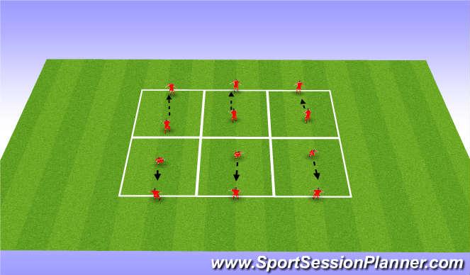 Football/Soccer Session Plan Drill (Colour): Heading technique