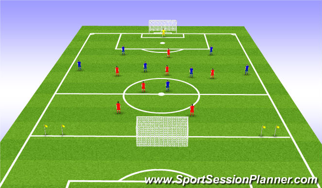 Football/Soccer Session Plan Drill (Colour): Game Training 1