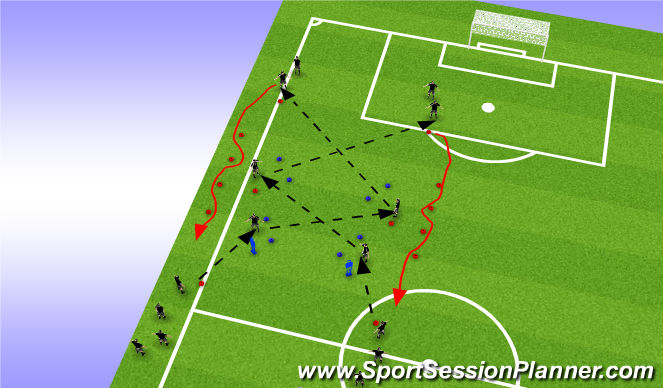 Football/Soccer Session Plan Drill (Colour): tech warm-up ( mental impact Body shape