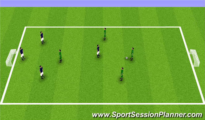Football/Soccer Session Plan Drill (Colour): Rugby Soccer 4v4