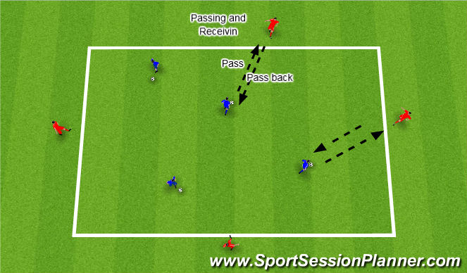 Football/Soccer Session Plan Drill (Colour): Passing and Receving Techniques