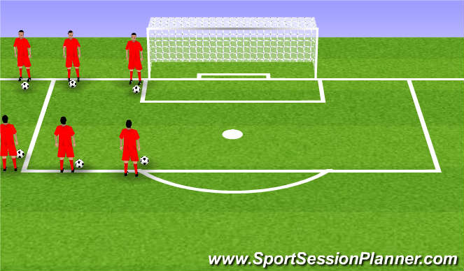 Football/Soccer Session Plan Drill (Colour): moves with partner