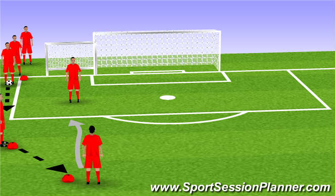 Football/Soccer Session Plan Drill (Colour): 1v1 to pugg then scrimmage