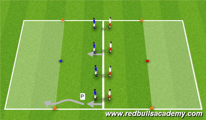 Football/Soccer Session Plan Drill (Colour): Main Theme (Wild Wild West)