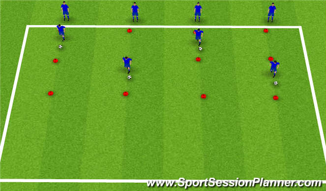 Football/Soccer Session Plan Drill (Colour): Skills Box