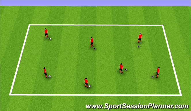 Football/Soccer Session Plan Drill (Colour): Ball Mastery Skills