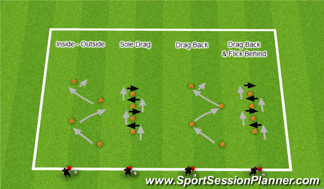 Football/Soccer Session Plan Drill (Colour): Skill test