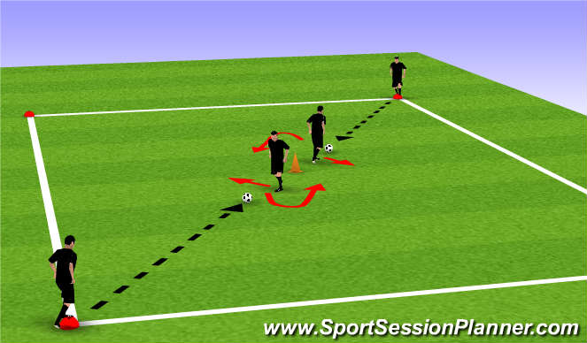 Football/Soccer Session Plan Drill (Colour): Drill pt 1 (Heel Raise)