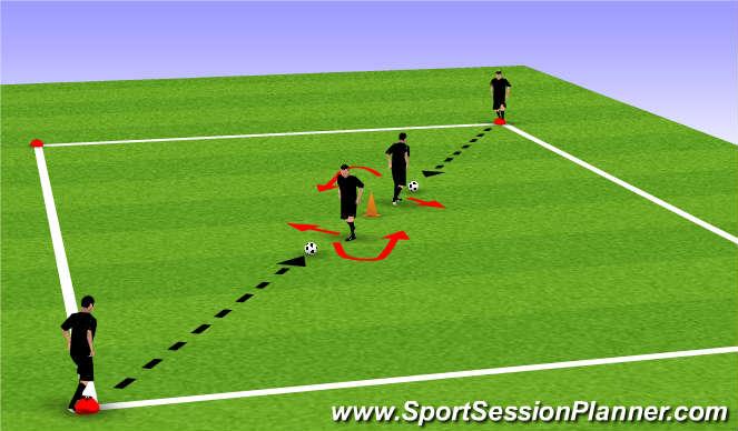 Football/Soccer Session Plan Drill (Colour): Drill pt 1 (Heel Raise)