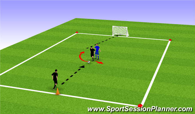 Football/Soccer Session Plan Drill (Colour): Drill pt 2 (Heel Raise)