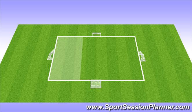 Football/Soccer Session Plan Drill (Colour): Handball-Possession-4 goals