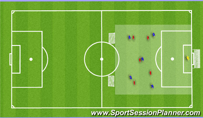 Football/Soccer Session Plan Drill (Colour): Conditioning games